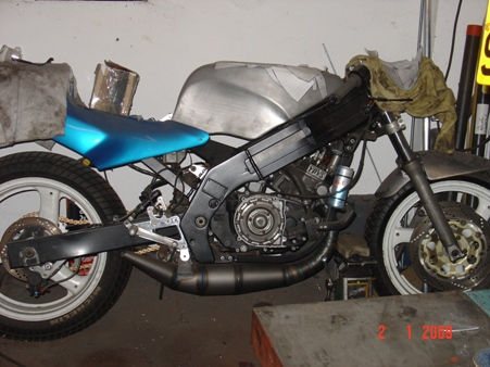 Dusty RGV250 needing rescue
